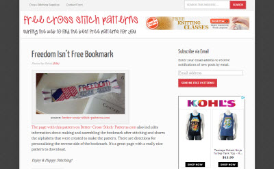 Free Cross Stitch Patterns Website